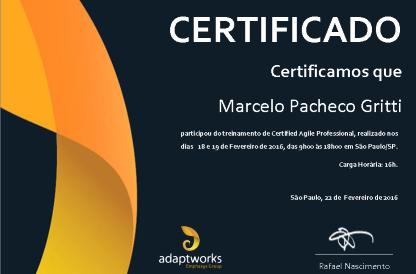 Certificação Agile