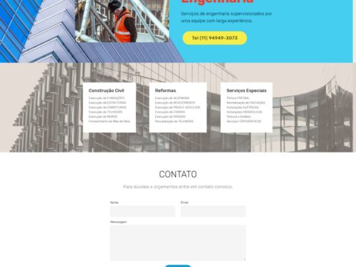 Site One Page – FLM Engenharia